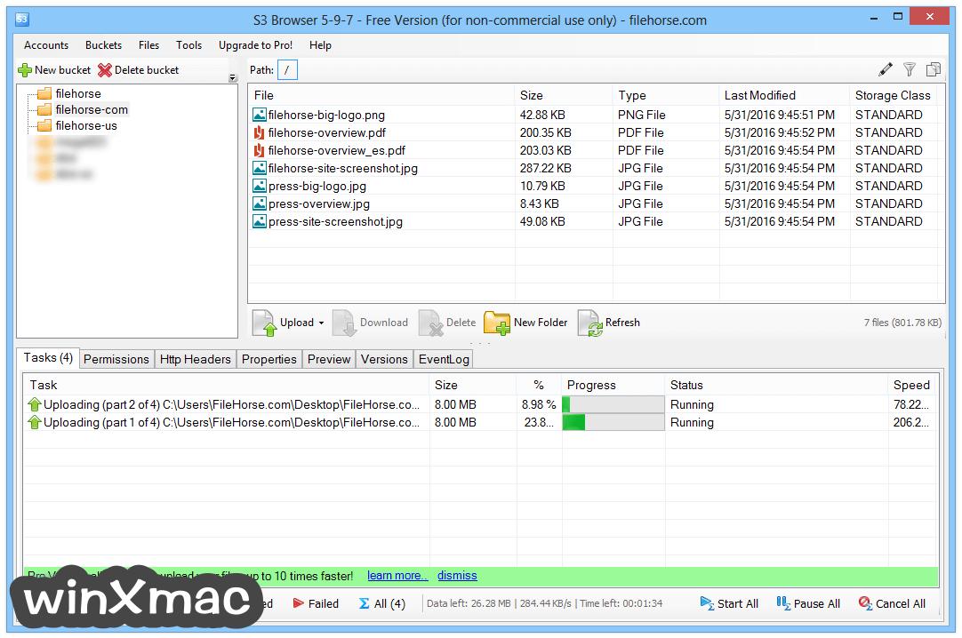 S3 Browser Screenshot 1