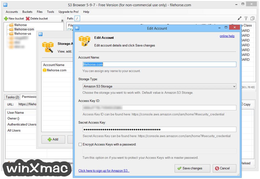 S3 Browser Screenshot 2