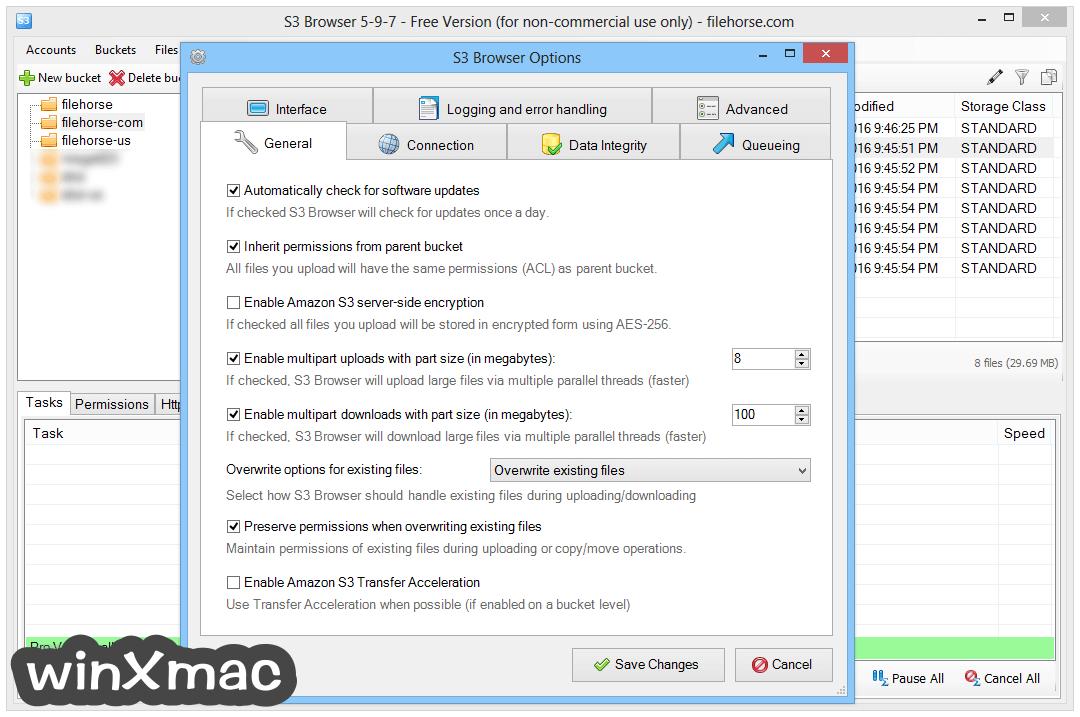 S3 Browser Screenshot 5