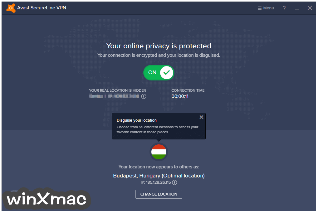 Avast SecureLine VPN Screenshot 1
