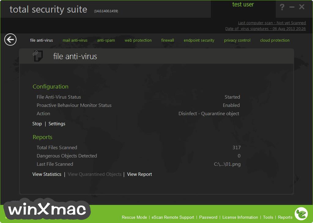 eScan Total Security Suite Screenshot 1