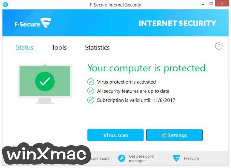 F-Secure Internet Security Screenshot 1