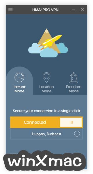 HMA! Pro VPN Screenshot 2