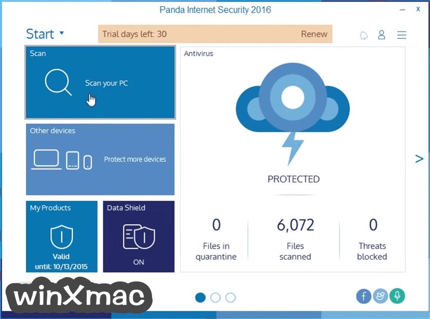 Panda Internet Security Screenshot 1