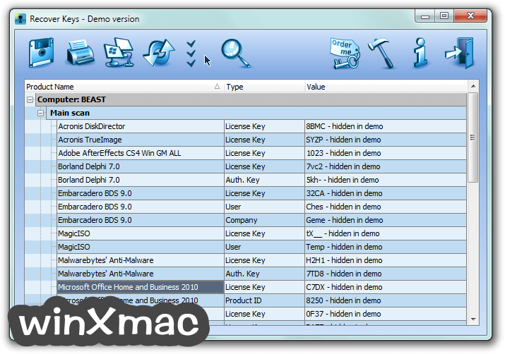 Recover Keys (64-bit) Screenshot 1