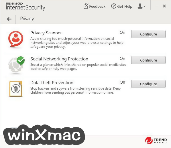 Trend Micro Internet Security Screenshot 3