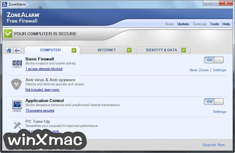 ZoneAlarm Free Firewall Screenshot 2
