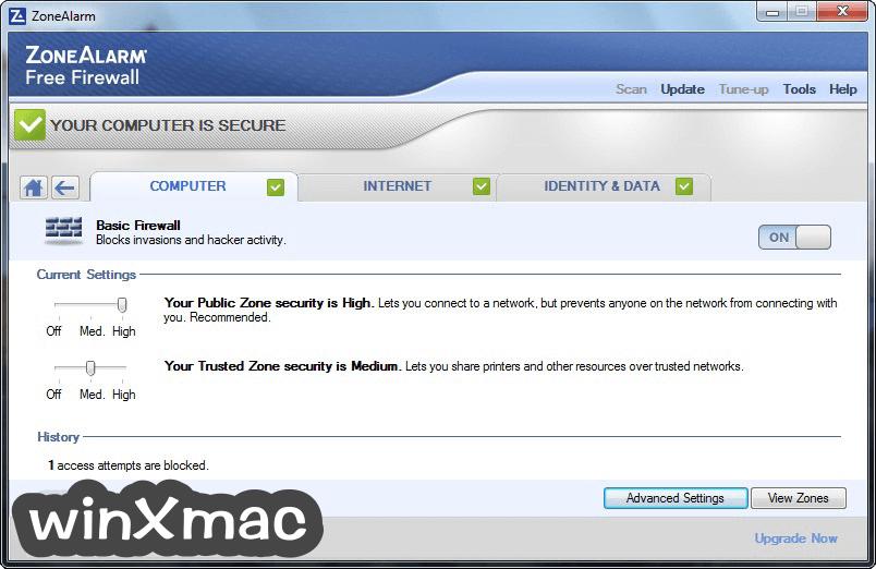 ZoneAlarm Free Firewall Screenshot 4