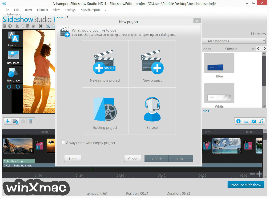 Ashampoo Slideshow Studio HD Screenshot 2