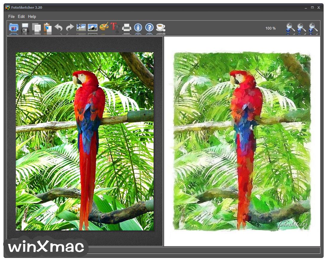 FotoSketcher (32-bit) Screenshot 1