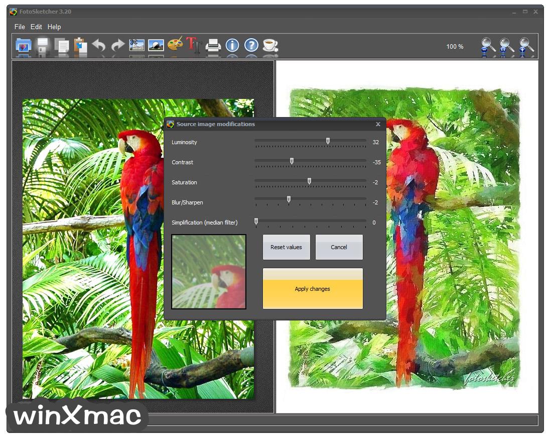 FotoSketcher (32-bit) Screenshot 2