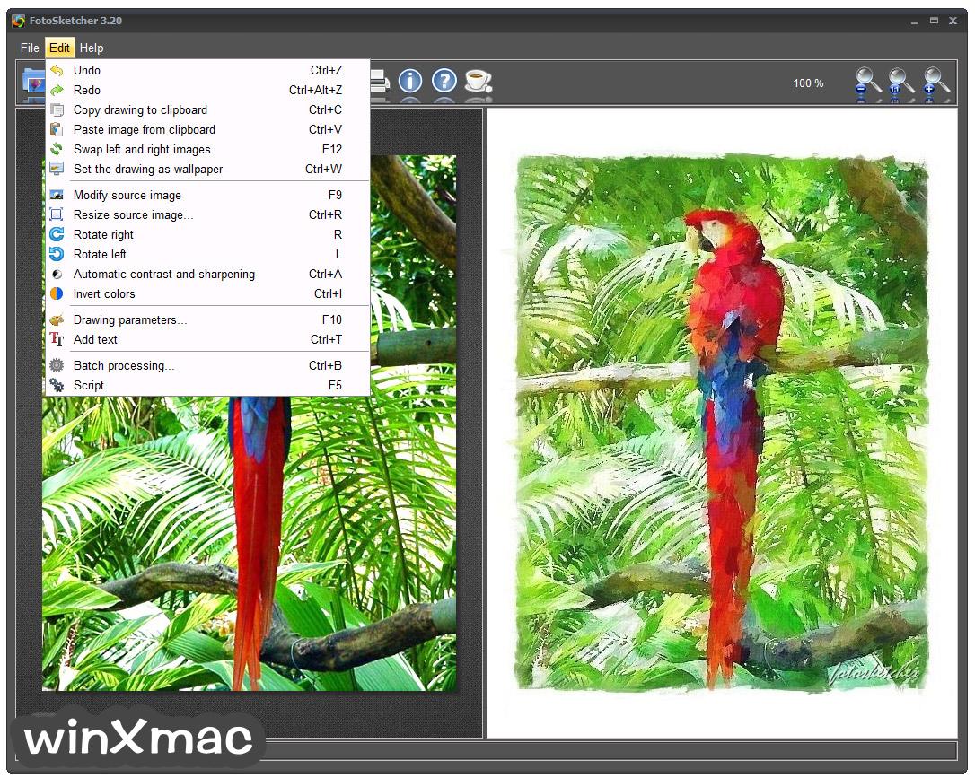 FotoSketcher (32-bit) Screenshot 3