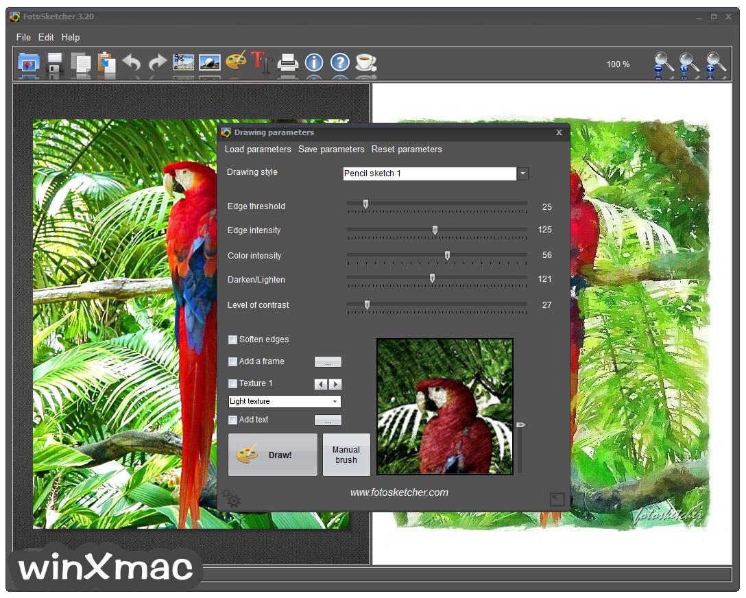 FotoSketcher (32-bit) Screenshot 4