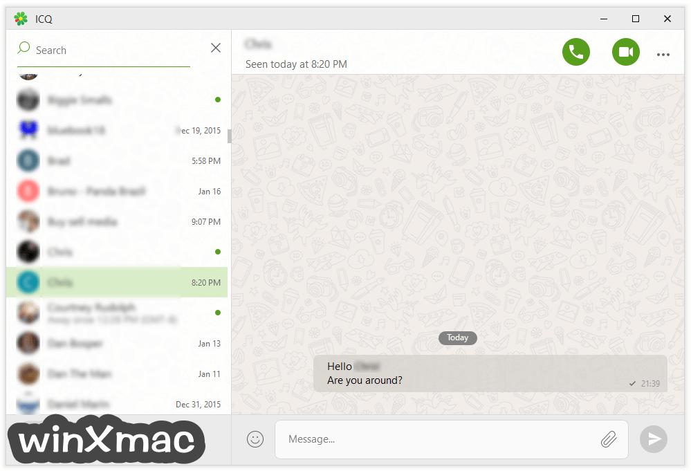 ICQ Screenshot 1