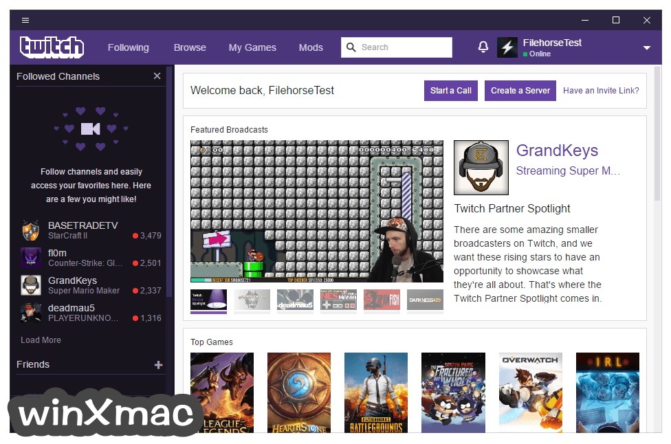 Twitch Desktop App Screenshot 1