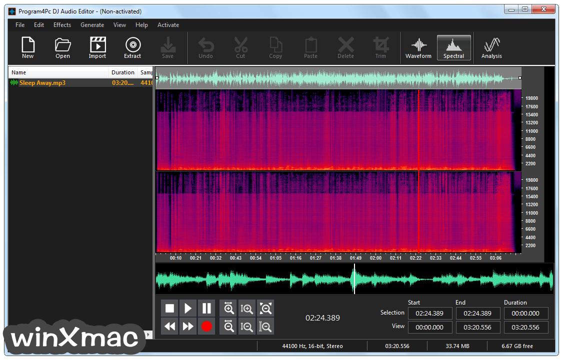 DJ Audio Editor Screenshot 1