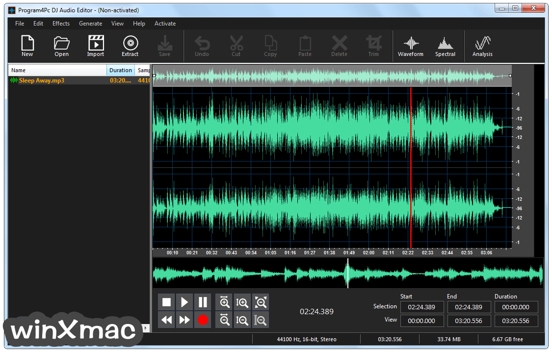 DJ Audio Editor Screenshot 2