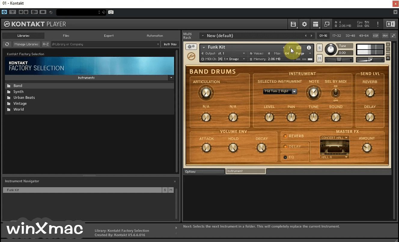 Kontakt Player Screenshot 2