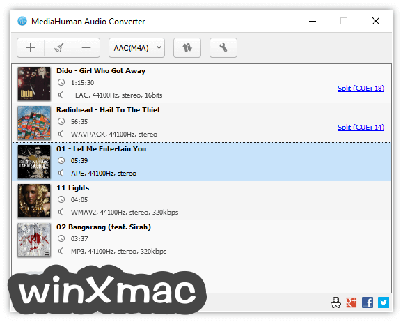 MediaHuman Audio Converter Screenshot 1