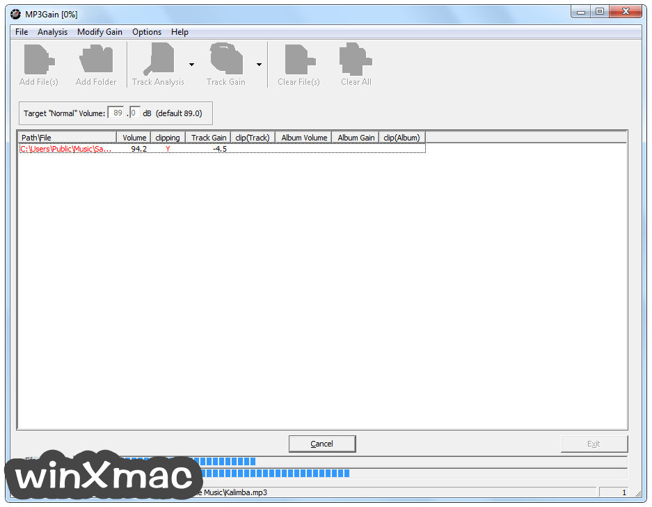 MP3Gain Screenshot 1