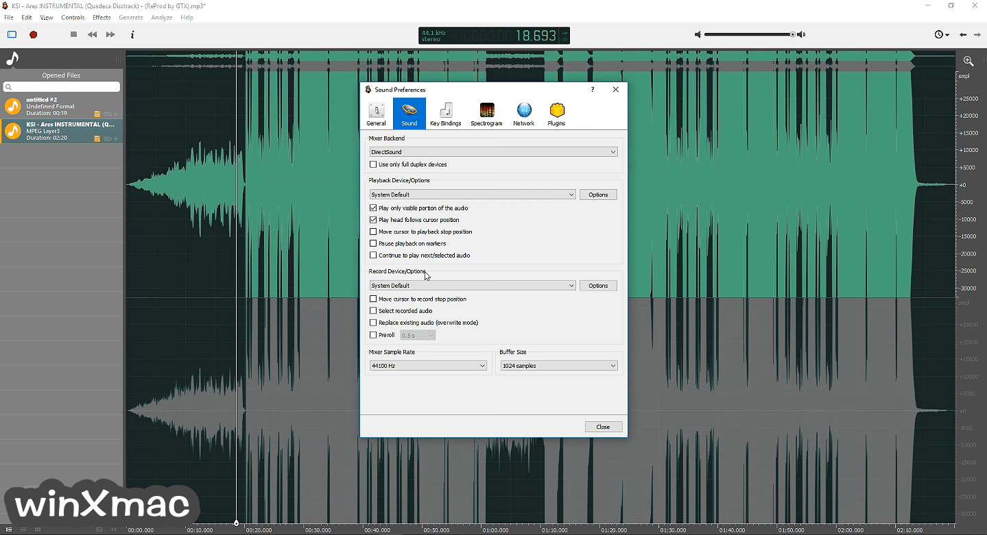 Ocenaudio (64-bit) Screenshot 4