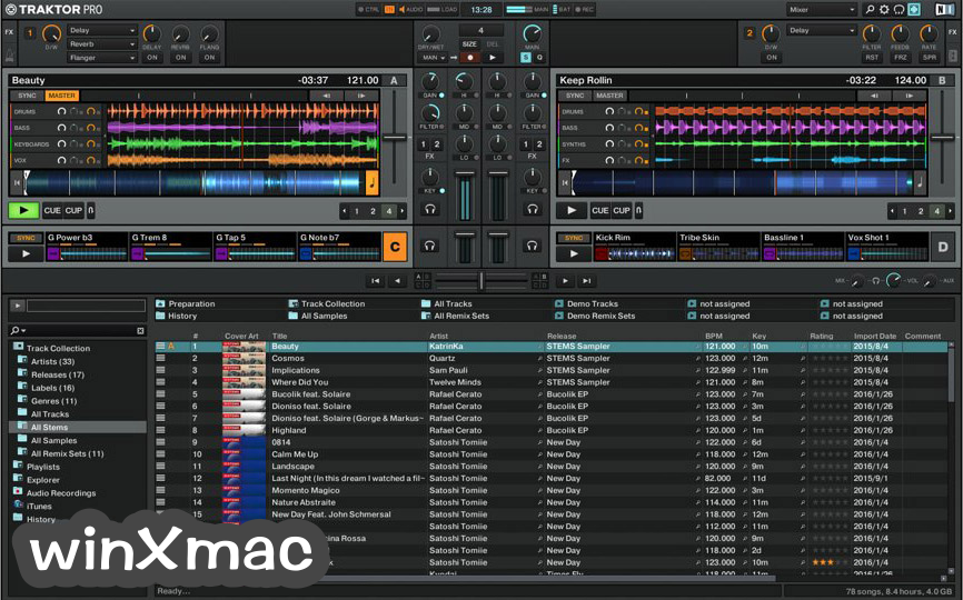 Traktor DJ software Screenshot 2
