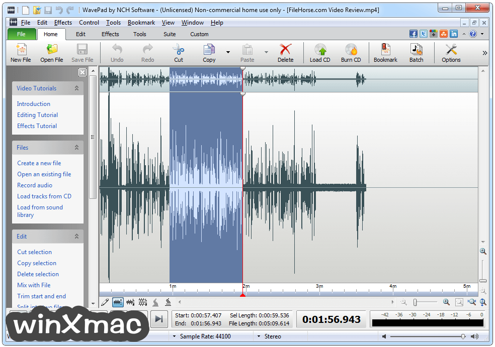 WavePad Sound Editor Screenshot 1