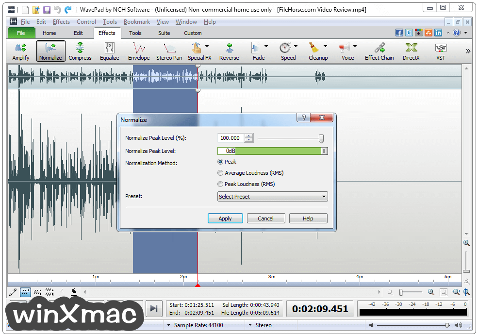WavePad Sound Editor Screenshot 3