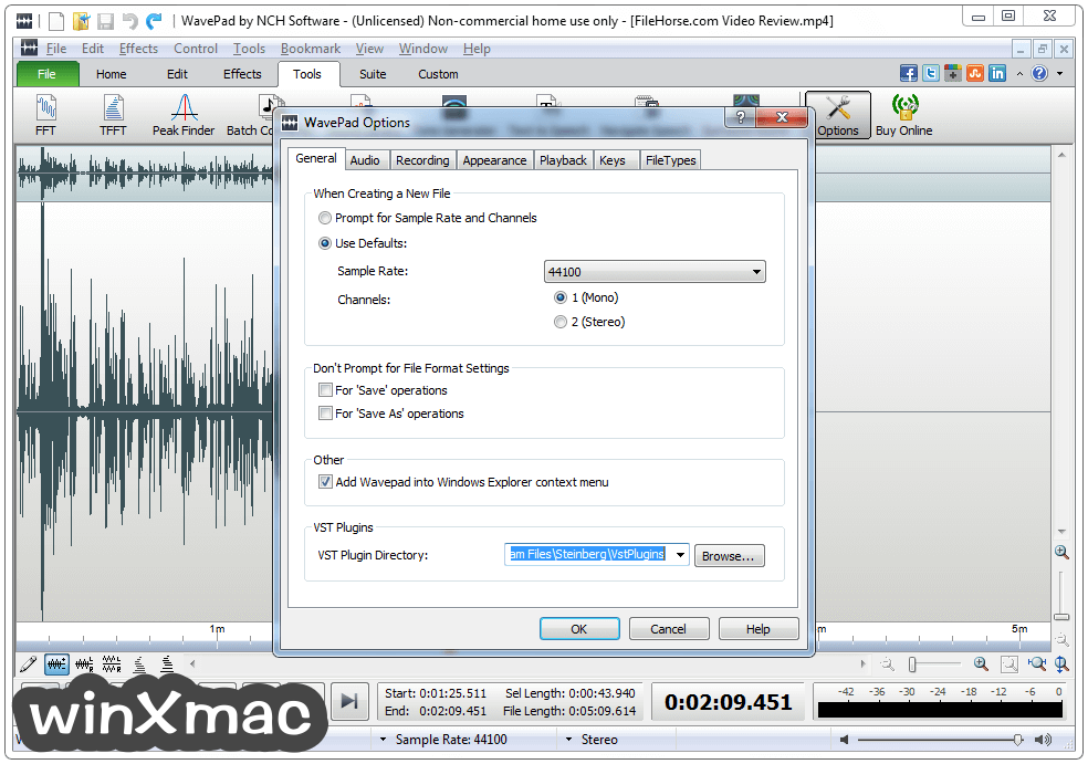 WavePad Sound Editor Screenshot 5