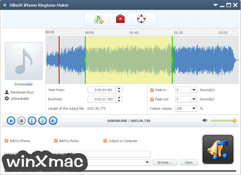 Xilisoft iPhone Ringtone Maker Screenshot 1