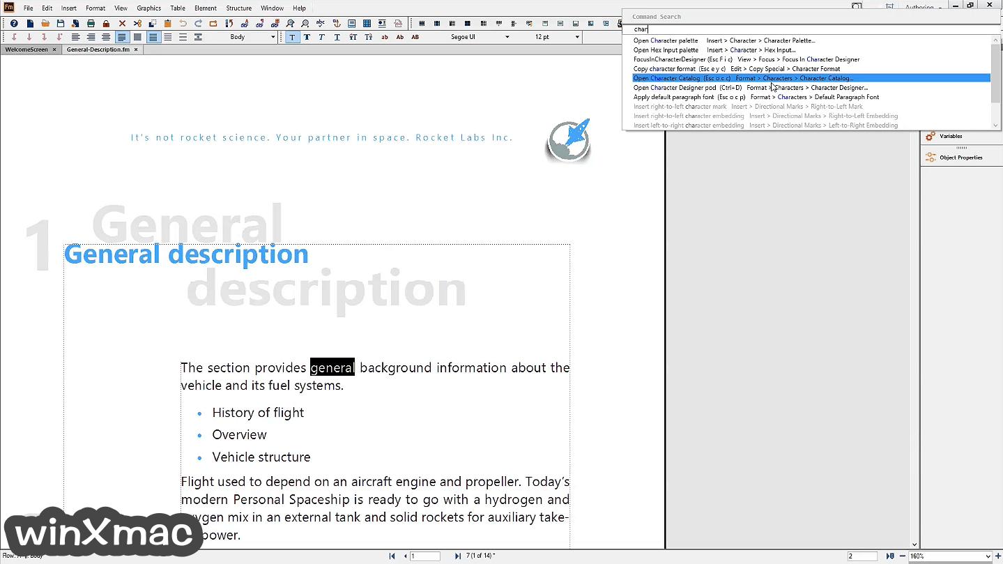 Adobe FrameMaker Screenshot 2