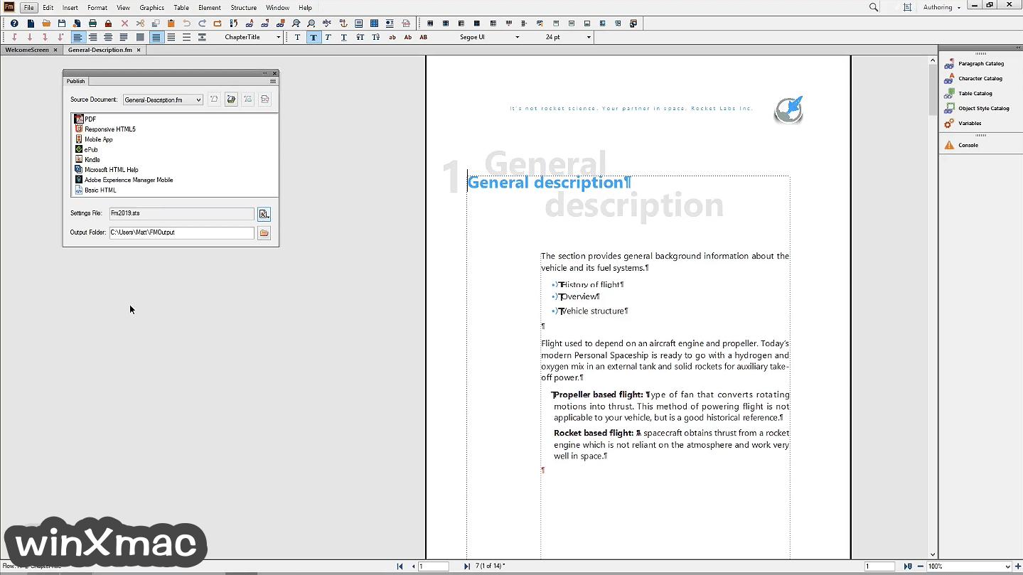 Adobe FrameMaker Screenshot 3