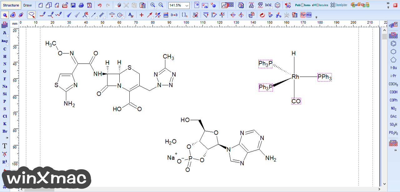 ChemSketch Screenshot 1