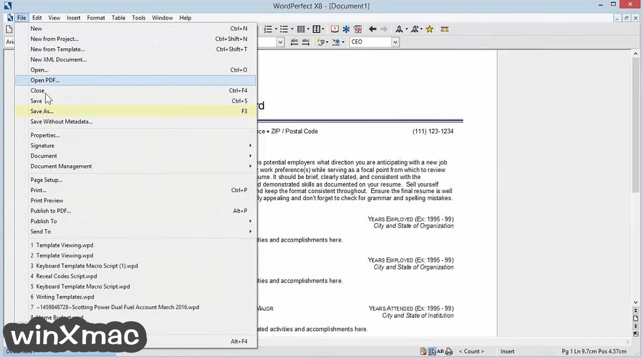 Corel WordPerfect Office Screenshot 2