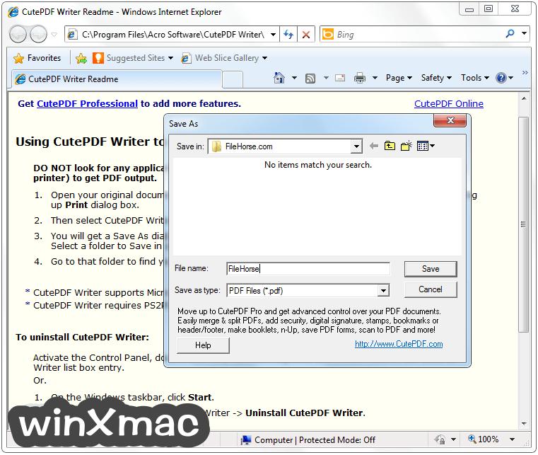 CutePDF Writer Screenshot 2