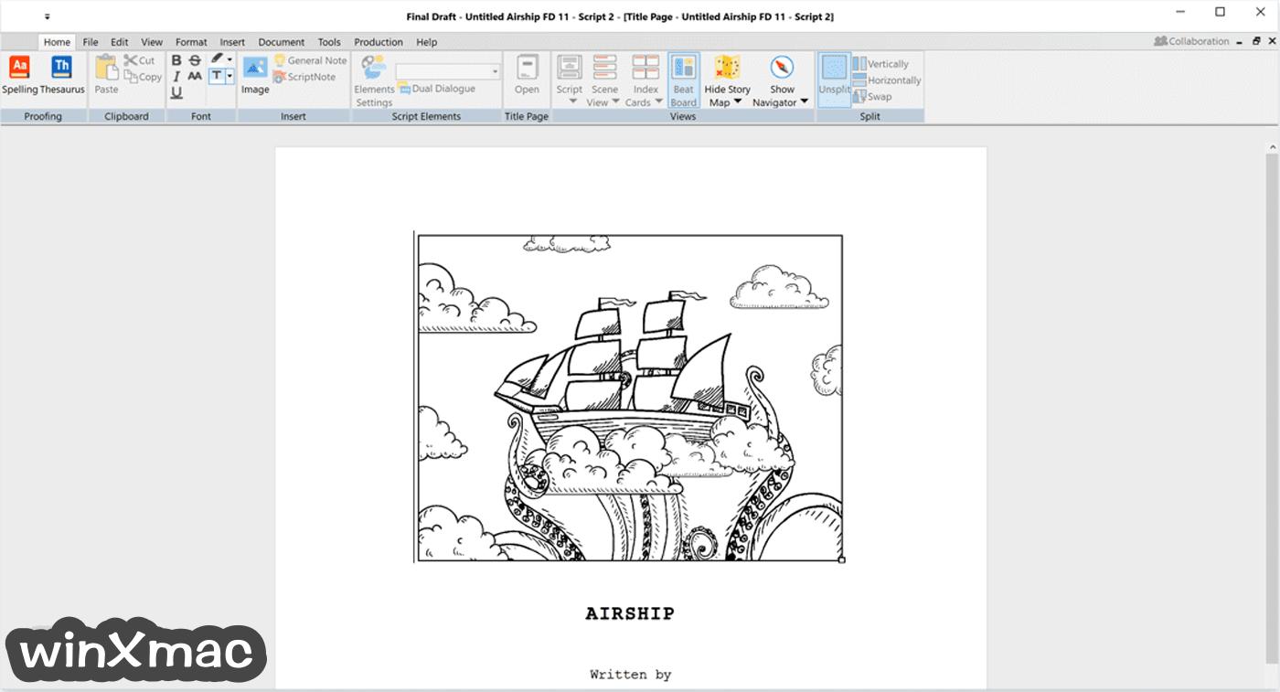 Final Draft Screenshot 2