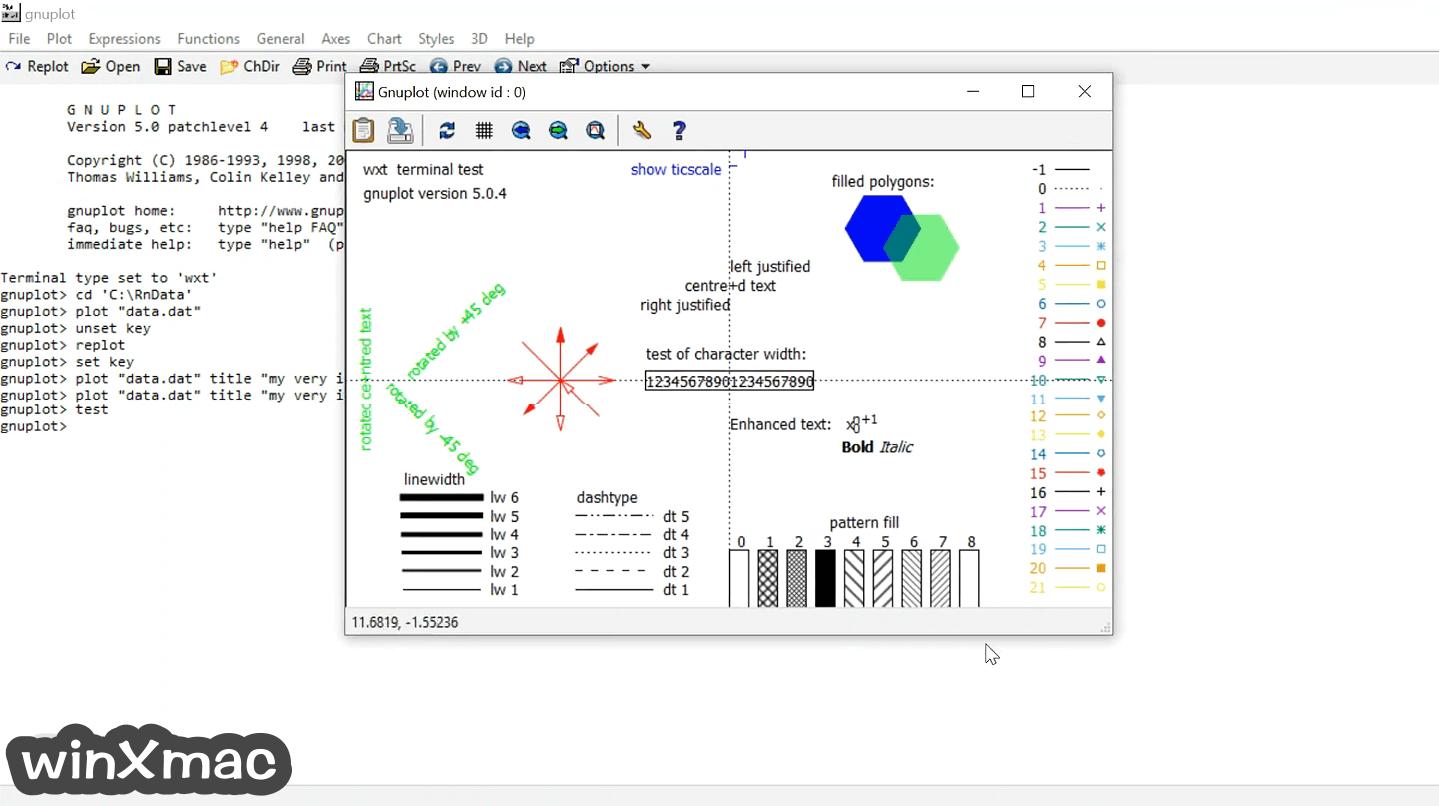 Gnuplot (64-bit) Screenshot 2