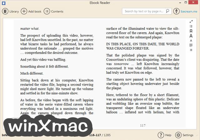 IceCream Ebook Reader Screenshot 3