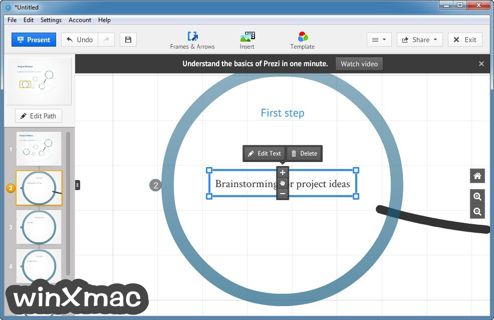 Prezi for Desktop Screenshot 3