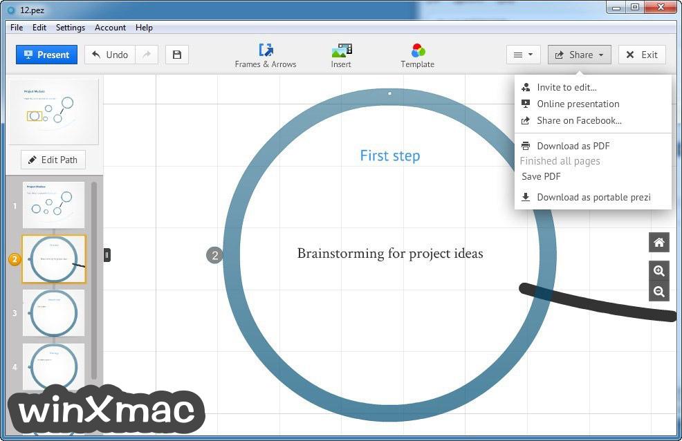 Prezi for Desktop Screenshot 4