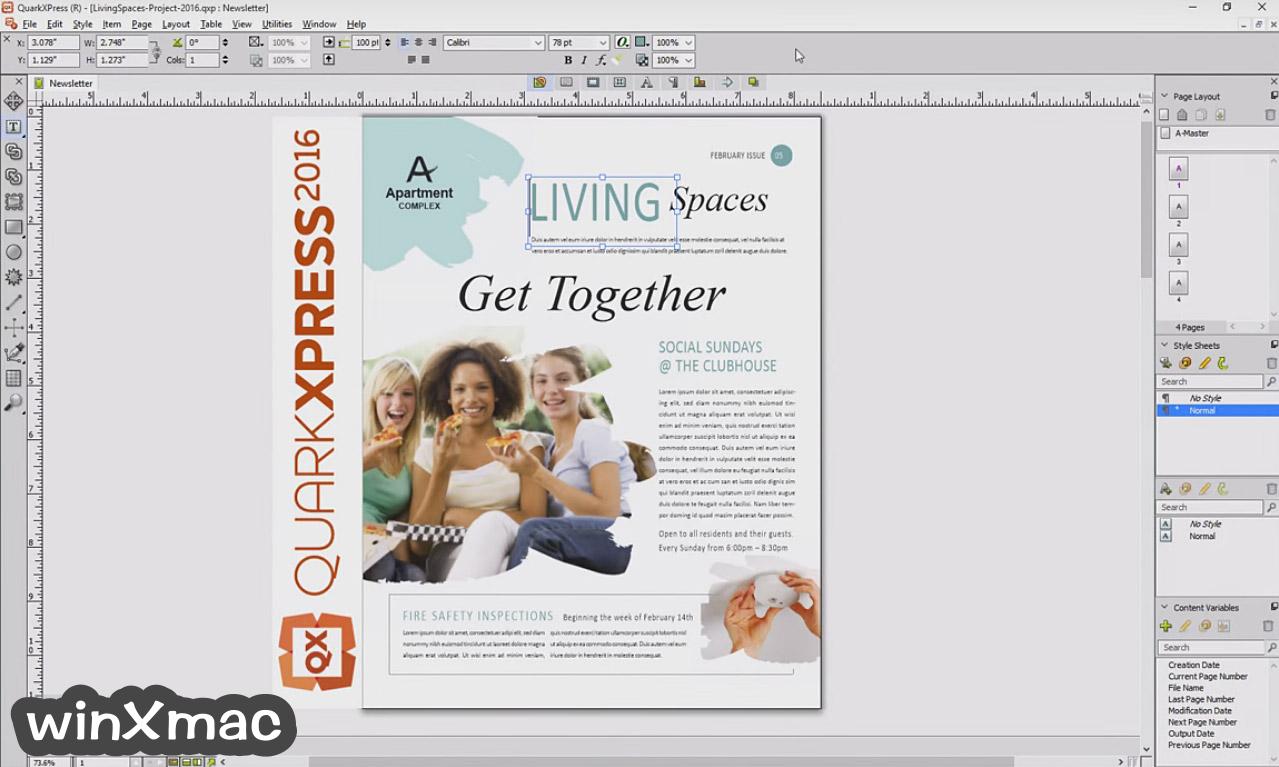 QuarkXPress Screenshot 1