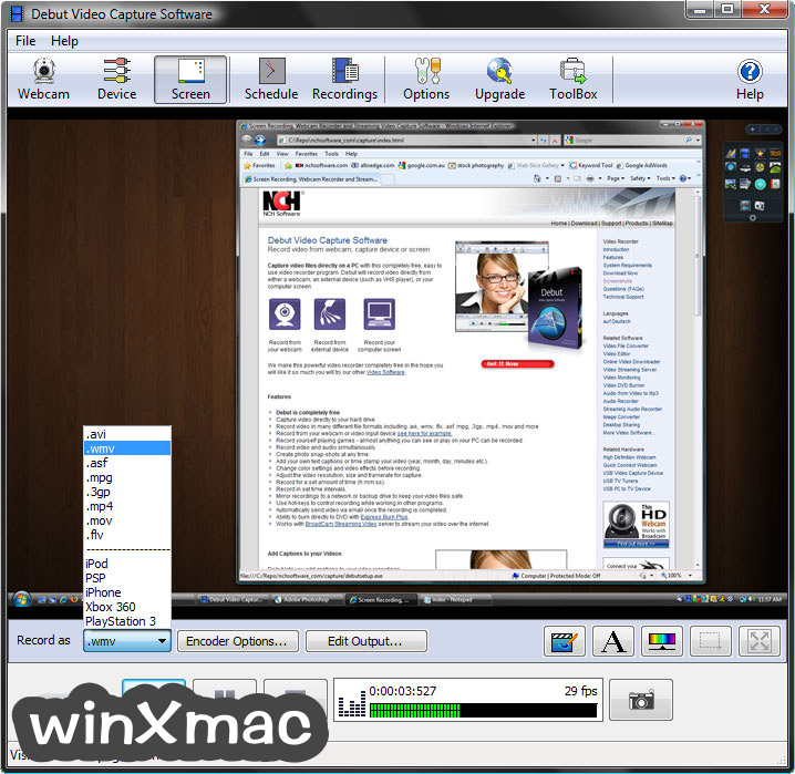 Debut Video Capture Screenshot 2