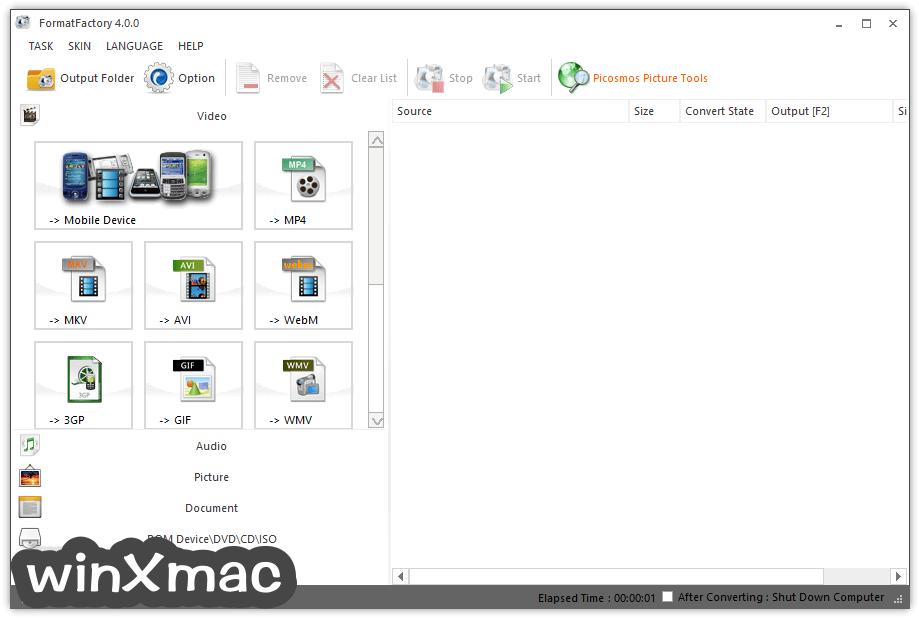 Format Factory Screenshot 1