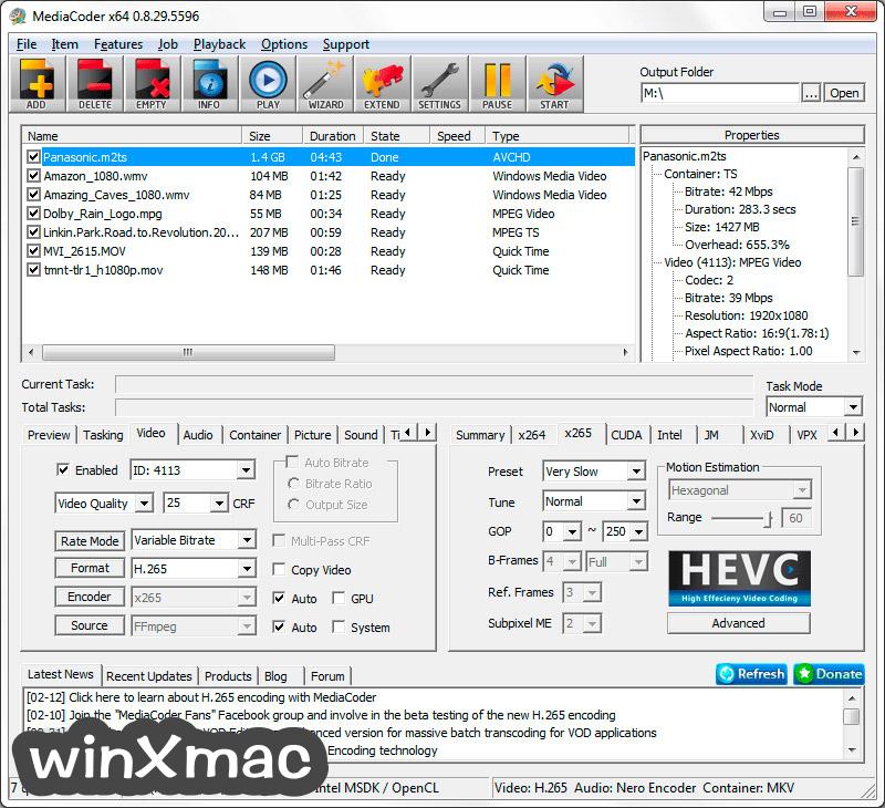 MediaCoder (32-bit) Screenshot 2