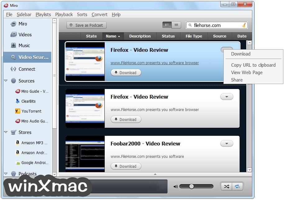 Miro Video Player Screenshot 4