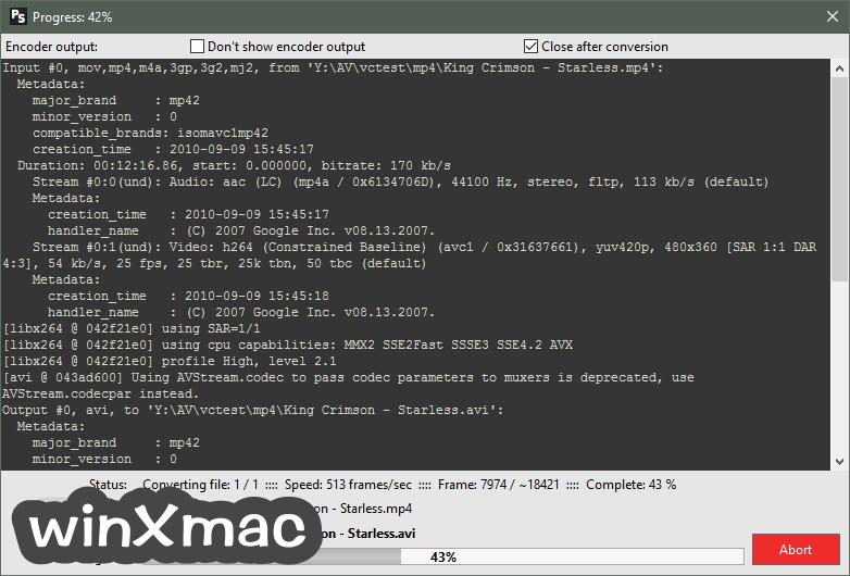 Pazera Free MP4 to AVI Converter Portable (64-bit) Screenshot 2
