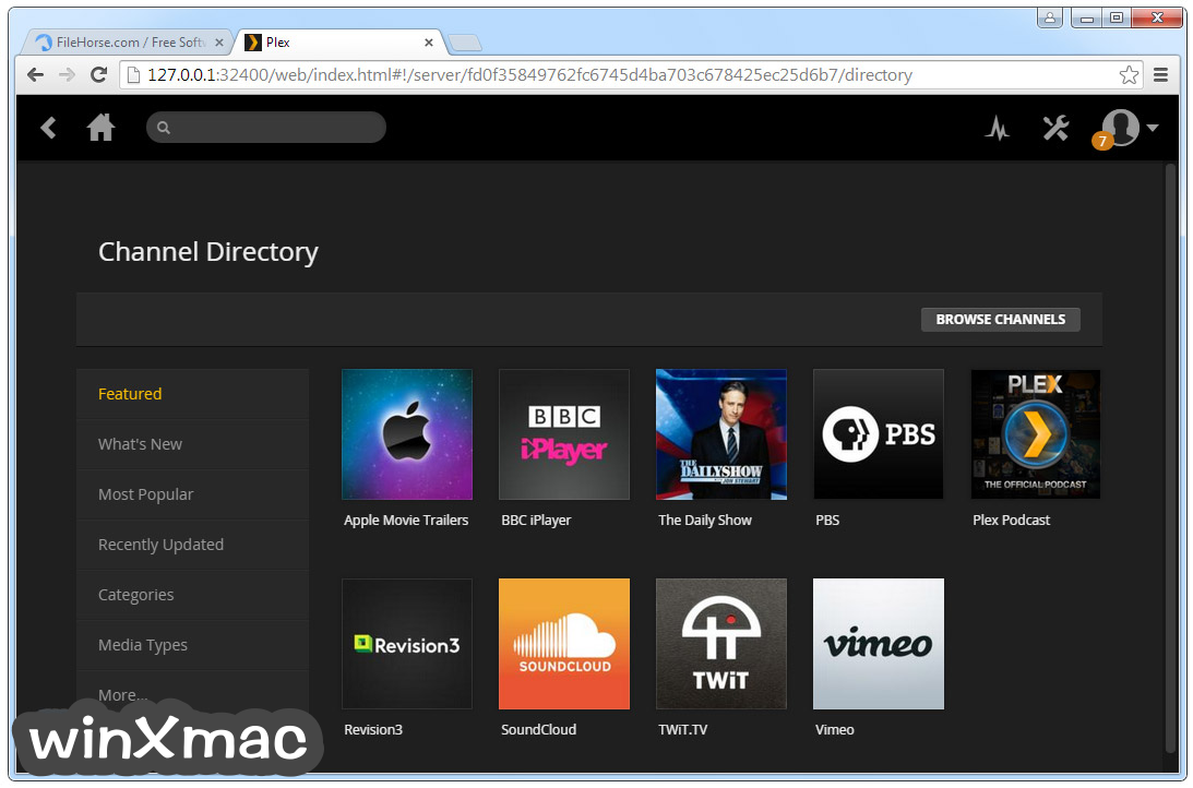 Plex Media Server Screenshot 1