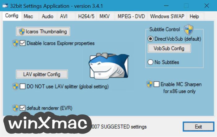 STANDARD Codecs Screenshot 1