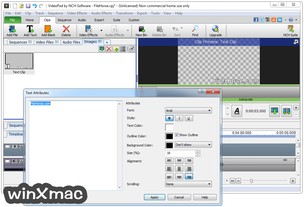 VideoPad Video Editor Screenshot 3