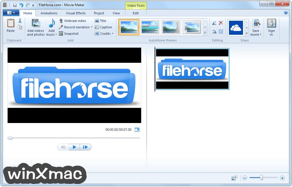 Windows Live Movie Maker Screenshot 1